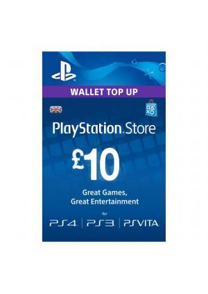 PLAYSTATION NETWORK PSN CARD 10 GBP - GamesGuru