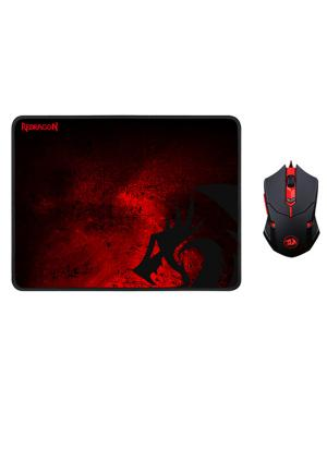 Redragon - 2 in 1 Combo M601-BA Mouse and MousePad - GamesGuru