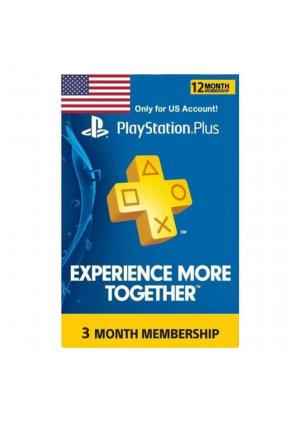 PSN PLUS PRETPLATA ZA PS4 I PS3 3 MESECI US NALOG - GamesGuru
