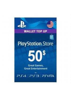 PLAYSTATION NETWORK PSN CARD 50 USD - GamesGuru