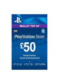PLAYSTATION NETWORK PSN CARD 50 GBP - GamesGuru
