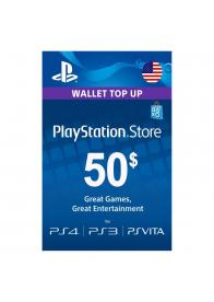 PLAYSTATION NETWORK PSN CARD 50 USD - GamesGuru
