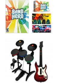 GamesGuru - Band Hero Super Bundle - Igrica, gitara, bubnjevi i mikrofon za Wii