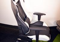 Gaming Chair e-Sport DS-057 Black/White (PU,PVC)