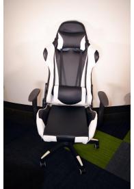 Gaming Chair e-Sport DS-057 Black/White (PU,PVC)